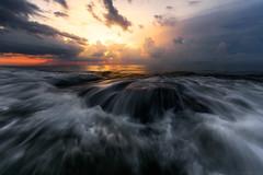 Incoming Tide (Matt Creighton) Tags: atlanticocean seascape sunrise kurebeach fortfisher nikon nikond750 tamron1530 outside morning oceanscape seashore ocean