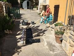 Repairing the street