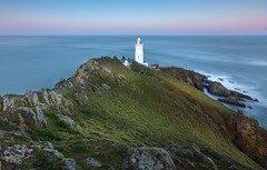 Late Light, Start Point (Mick Blakey) Tags: devon ethereal startpoint trinityhouse blue calm cliffs coast coastpath coastsurf coastal coastline contrast cove dipping dramatic dreamy dusk highlights illuminated lighthouse rocks rugged scenic sea seascape shadows slowexposure tidal