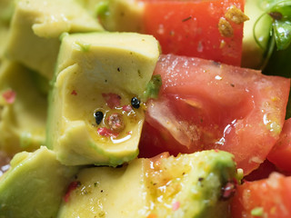 Dressed avocado salad