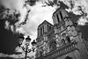 La dame noir (bastien.choisy) Tags: blackandwhite contrast monument notredame paris