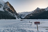 Ignorance is Bliss (meezoid) Tags: thin ice frozen lake louise alberta banff danger tourists travel canada fairview mountains devilsthumb snow winter d850 people scenery nature uncool7 c4u7