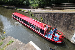Journey begins again. (jdathebowler Thanks for 2.7 Million + views.) Tags: leedsliverpoolcanal bingleyfiveriselocks canal towpath barge waterway canaltransport narrowboat