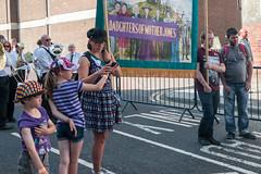 Durham Miners' Gala 2018 (Cerdic Elesing) Tags: kodakektar mother women england daughter banner purple durham son barnsleyminerswives countydurham durhamminersassociation gala protest men object xequals unitedkingdom gb