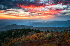 Blue Ridge Parkway Autumn Sunset Scenic Landscape Asheville NC (Dave Allen Photography) Tags: autumn fall foliage sunset asheville nc northcarolina mountains blueridgeparkway scenic landscape outdoors fallfoliage appalachians