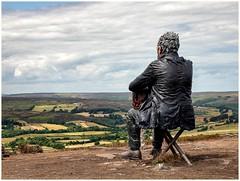 The Seated Man - Castleton (urfnick) Tags: westerdale england unitedkingdom gb yorkshire nationalpark canon 6dmarkii statue sundaylights