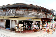 Editorial Use Only - CHIANG KHAN,LOEI - JUNE 28 : Chiang Khan  a popular tourist destination in  Northeast of Thailand on JUNE 28 ,2014 in Chiang Karn,Loei,Thailand. (www.icon0.com) Tags: chiangkhan classic culture destination local loei oldhouses oldwoodenhouse place relax simplelife smalltown southeast thailand tourist townbuildings townstreet tradition vintage