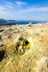 Fumarole field, Vulcano (Mister Electron) Tags: italy nikond800 sicily island islands sunny sunshine volcanic volcano vulcanism sulphur sulfur gasses hydrogensulphide hydrogensulfide carbondioxide steam brimstone vents yellow vibrant geothermal fumarole fumaroles