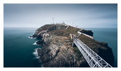 South Stack (Ollie Pocock) Tags: foggy fog uk rocks cliffs water island longexposure ocean seascape sea lighthouse northwales wales anglesey