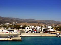 Paros Port (dimaruss34) Tags: newyork brooklyn dmitriyfomenko image sky greece paros antiparos sea water mountains houses island cars people