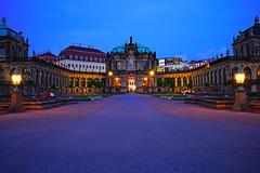 Dresden at the blue hour. Glockenspielpavillon (Andrey Sulitskiy) Tags: dresden germany