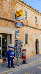 - D igital P hoto S ervice - (TLU66) Tags: sign skilt kodak digitalphotoservice mallorca santanyi coolpixa cocacola vintage vintagesigns photo colddrinks playmobil playmobilpolice police pavement newspapers