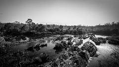 Tad Hua Khon, Laos (pas le matin) Tags: sky ciel river rivière cascade waterfall chuttedeau landscape paysage grass herbe rock rocher tree arbre water eau monochrome nb bw noiretblanc blackandwhite asia asie laos lao southeastasia canon 7d canon7d canoneos7d eos7d