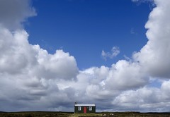 "Green House (Stephen Howett) Tags: ""xseries"" fuji fujifilm hebrides landscape clouds sky minimal 1855mm xe3 ""isleoflewis"" scotland abandoned isolated cottage house"