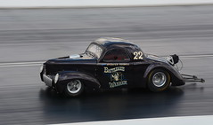 Willys_1357 (Fast an' Bulbous) Tags: hotrod car vehicle automobile race track drag strip fast speed power acceleration motorsport panning nikon santa pod racecar outdoor summer sunny d7100 gimp