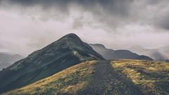 'The Rain Arrived', Catbells, Lake District (MelvinNicholsonPhotography) Tags: keswick lakes lakedistrict derwentwater catbells fells mountains storm rain sky cloud cumbria grass