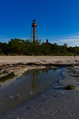 Lighthouse Point July 4 (Will-Jensen-2020) Tags: nikon d7200 park water sand beach reflection morning lighthouse point sancap sanibel sanibelphotographer sanibelisland florida usa