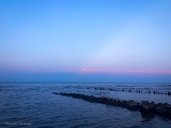 The moon. (megmcabee) Tags: chesapeake bay beach sunset moon pastel maryland