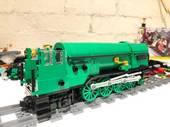 Something seems different about you... (Britishbricks) Tags: train steam moc wip princeofwales lordpresident lner p2 lego