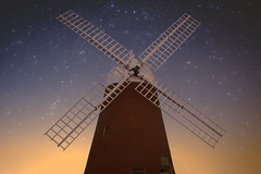 Turn, turn, you sails triumphant (sagesolar) Tags: windmill halnaker boxgrove chichester halnakerwindmill startrail stars night nightsky longexposure northstar andromeda andromedagalaxy windmillsails westsussex building astrophotography architecture nightimages nightpixels astrophoto nightscape
