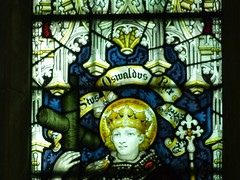 Church - Stratford, Holy Trinity 180509 [stained glass window 3c] (maljoe) Tags: church churches holytrinity holytrinitystratforduponavon stratforduponavon stainedglass stainedglasswindow stainedglasswindows