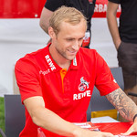 Marcel Risse giving autographs at 2018/2019 season opening thumbnail