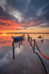 Ria de Aveiro (paulosilva3) Tags: sunrise colors boat old pier longexpo canon manfrotto lowepro progrey filters ria de aveiro portugal