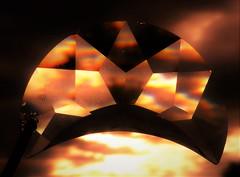 Crystal Moon Trinket..x (Lisa@Lethen) Tags: macromondays trinkets theme hmm mm happymacromondays moon crystal sunrise colours macro weather