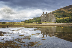 Lochranza Castle, Arran, Scotland. (Gary Alexander's Landscape Photography) Tags: lochranza castle historic scotland colour color canon 6d reflect reflection sky cloud travel history isle island arran land landscape photography photo harbour harbor hill hills western scot clyde uk europe adventure scenic