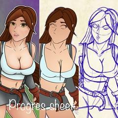 Progres sheet for Tifa Lockhart (Toby0177) Tags: draw drawing art photoshop animedrawing animegirl anime