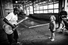 Eddie, #4 (alhawley) Tags: streetphotography usa bw everytownusa photojournalism american ricoh street ricohgrii candid blackandwhite busker monochrome photodocumentary busking photoessay