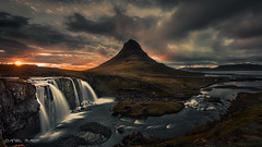 Sunset @ Kirkjufellsfoss (Dani Maier) Tags: iceland sunset kirkjufellsfoss landscape mountain waterfall