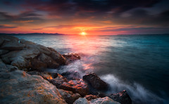 Sunset Bibinje (Croosterpix) Tags: sunset sun clouds colors sea adria adriatic croatia hrvatska dalmacija dalmatia landscape nature sony a7r nikkor1835 nisi croosterpix