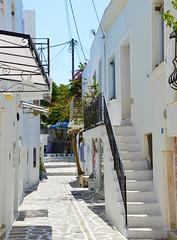 DSC_0052 (JustineChrl) Tags: parikia paros island sunset village landscape beautiful summer holidays greece nikon sky blue white pink flowers house beach
