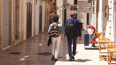 Can't Beat Italy For Style (Coquine!) Tags: christianleyk italy italia italien martinafranca puglia apulia apulien rucksack backpack style stil smurf schlumpf suit shark hai anzug elegant people men