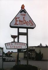 The Embers (marmotfotos) Tags: fire food restaurant signs eureka california biketrip biketouring