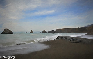 Sonoma coast in paint effect  HSS