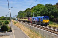 HSL 653-03 @ Lovenjoel (Maarten Schoubben) Tags: class 66 emd gm locomotive hsl logistik belgium polska tsp pft 802 cfl 5315 5306 5318 5216 5922 5927 hld reeks type 59 52 53 73 74 7384 7402