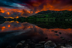 There was a Time (flogvit) Tags: rock tranquility nopeople scenicnature reflection land lake orange cloudsky tranquilscene nonurbanscene beautyinnature solid outdoors water sunset sky nature mountain