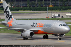 9V-JSI   Airbus A320-232   Jetstar Asia (james.ronayne) Tags: 9vjsi airbus a320232 jetstar asia aeroplane airplane plane aircraft jet jetliner airliner singapore changi sin wsss canon 80d 100400mm raw