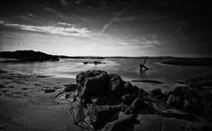 Anchor Beach (-- Q --) Tags: connemaranationalpark blackandwhite seascape republicofireland clouds sea wildatlanticway atlanticocean atlanticcoast leefilters marumidhgcpl monochrome qthompson connemaraloop