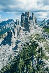 Cinque Torri (deathtiny42) Tags: aerial bapprintitaly2018 cinquetorri dji dolomiti drone forest hiking italia italie italy landscape mavicpro mountain mountains nature randonnée rocks