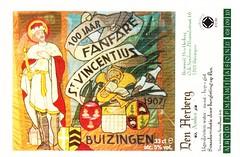 Belgium - Brouwerij Den Herberg (Buizingen) (cigpack.at) Tags: buizingen brouwerij denherberg belgien belgium amber 100jaarfanfarestvencentius bier beer brauerei brewery label etikett bierflasche bieretikett flaschenetikett