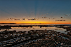 Message from beyond (JustAddVignette) Tags: australia dawn deewhy early firstlight landscapes morning newsouthwales northernbeaches ocean reflections rocks seascape seawater sky sunrays sydney water