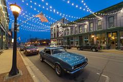 Camaro in Bay City, MI (DJ Wolfman) Tags: camaro v8 hot hotrods classic chevrolet chevy blue summer sidepipes baycity michiganfavorites michigan 1968