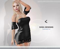 SD Talia Mesh Dress - Black (Shea Designs SL) Tags: maitreya belleza hourglass physique sheadesigns sexy casual summer latina