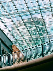 bull ring (khrawlings) Tags: bull ring rotunda birmingham city centre urban shopping mall tower flats apartments glass railing