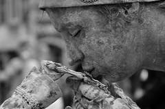 Favorite (soyer_rodrigue) Tags: human statue marcheenfamenne nikon d5100 art streetart streetperformer performer baisemain statuesenmarche noiretblanc bones baiser closedeyes portrait blackandwhite bw nb monochrome belgium wallonie provinceduluxembourg luxembourgbelge