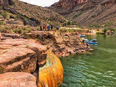 Pumpkin Spring, Colorado River, Grand Canyon (Nate Loper - #ArizonaGuide) Tags: grandcanyonnationalpark seetheworld explore nature getoutside vacation spring colors travel water adventure nationalpark arizona rafting river whitewater coloradoriver grandcanyon grand canyon grandcanyonrivertrip boat diving springs summer destination holiday southwest western wildwest desert hualapai havasupai navajo arizonariverrunners grandcanyonwhitewater riverrafting orange minerals travertine
