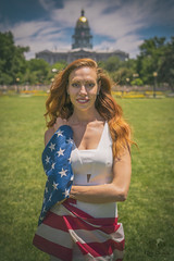 Red Firecracker (Luv Duck - Thanks for 13M Views!) Tags: select ali redhead patriotic flag usflag americanflag americangirl allamericangirl denver downtowndenver civiccenterparkdenver denvercapitolbuilding beautifulgirl model denvermodels